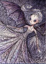 Cobweb Fairy, ACEO ATC by stevenshipman