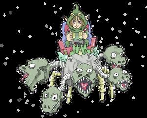 Dwarf Elf Hydra Rider