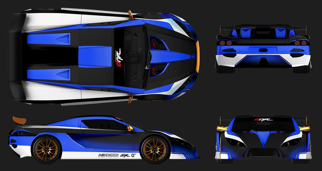 Quimera paint scheme for all Electric Drift Car by Rotr8 on DeviantArt