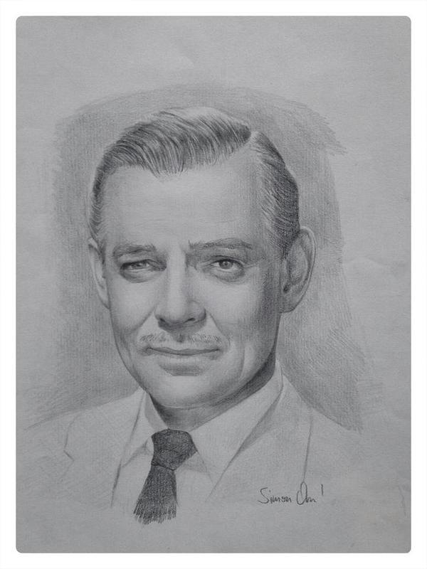 Clark Gable - Portrait by simonohm