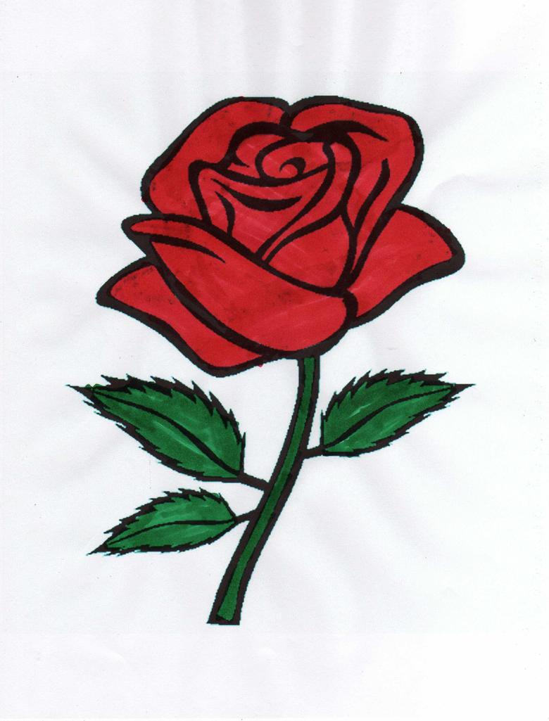 розы цветы рисованные картинки