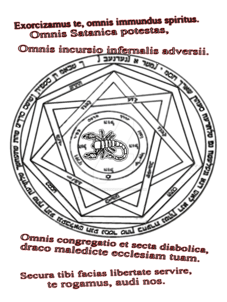 Supernatural Devils Trap Solomonic Seal By Killerkitten2005 On