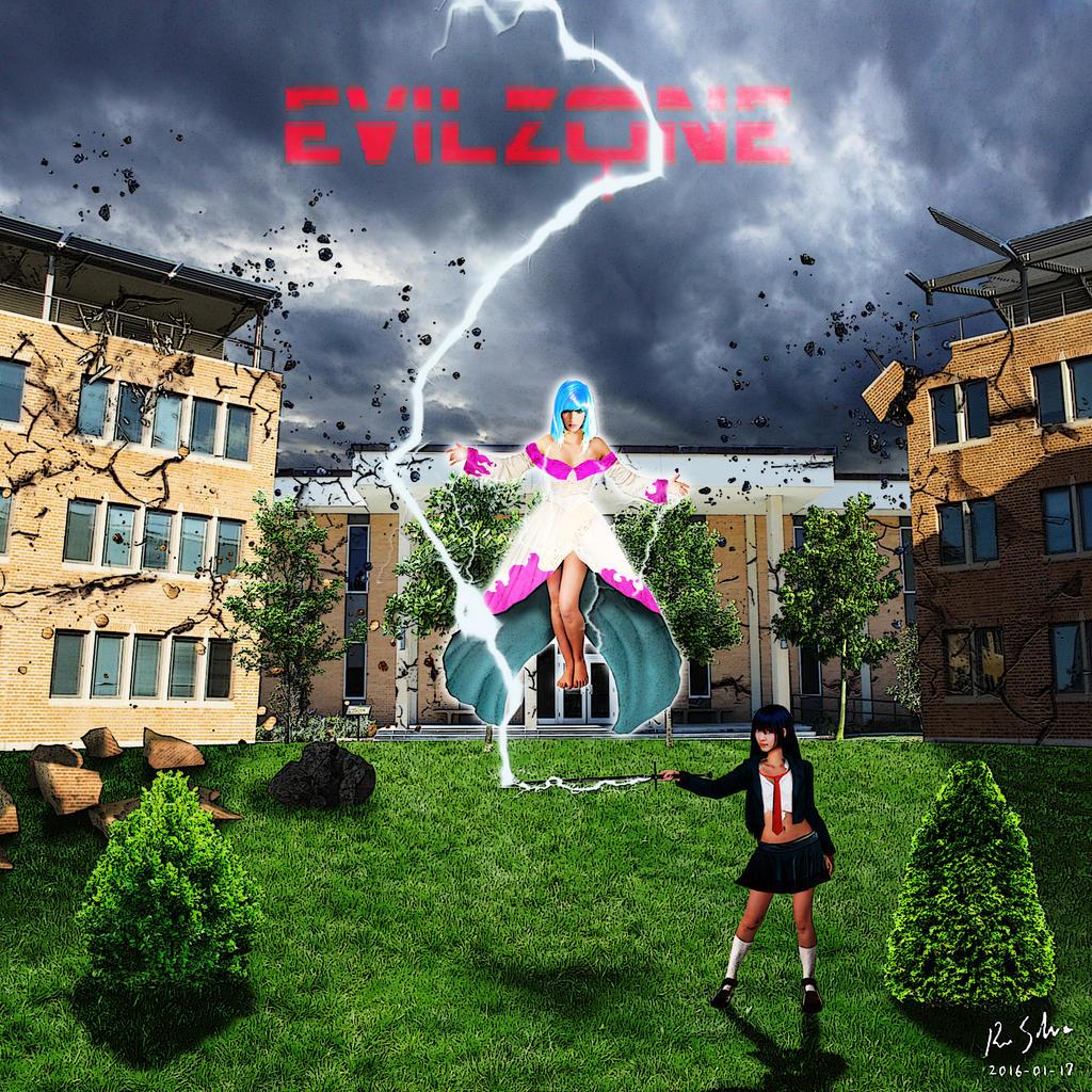 Evil Zone - Setsuna And Karin Thundering