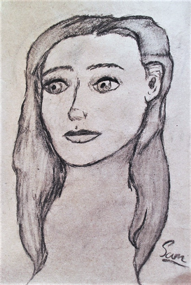 Charcoal Woman by LittleStuffs