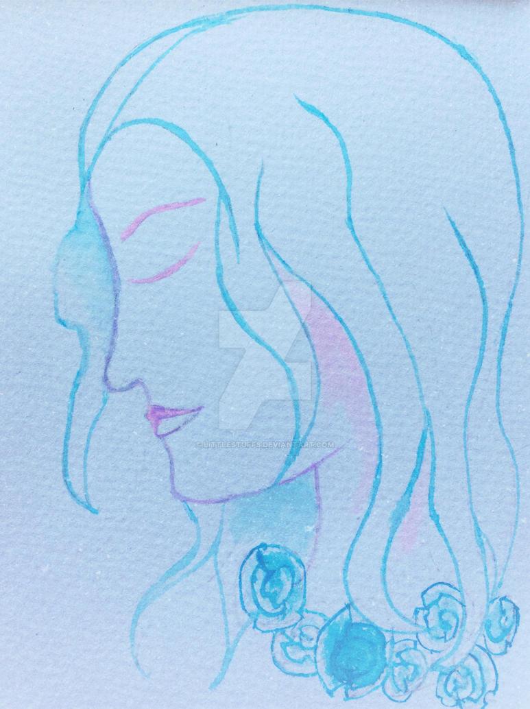 Blue Rose Woman by LittleStuffs