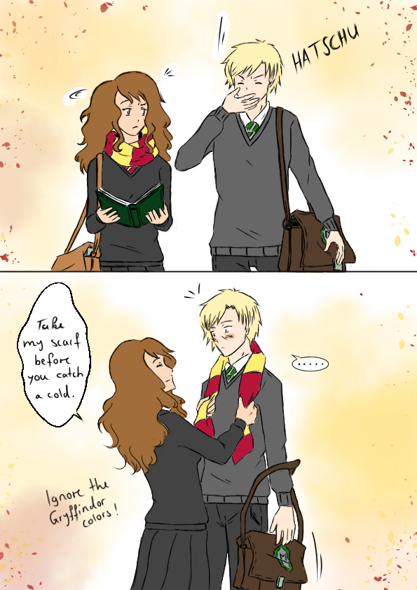 Dracoxhermione Comic Comfort By 19gioia93 On Deviantart