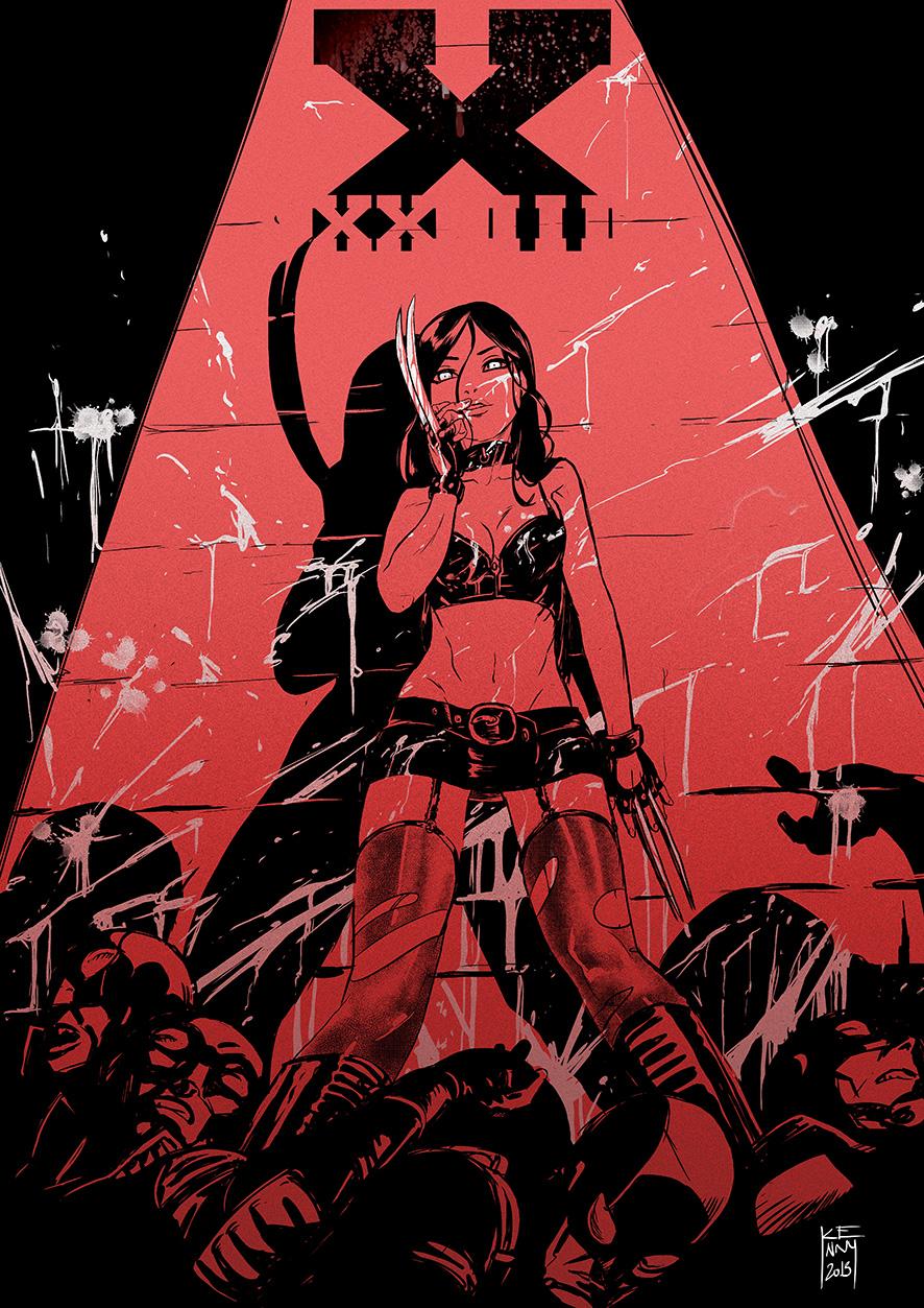X23 as Sasha Grey by KennyRuiz