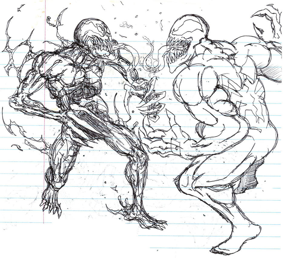 Spiderman vs carnage drawings - photo#51