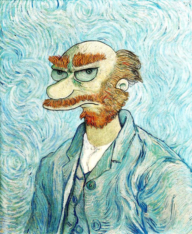Groundskeeper Willie Van Gogh by limpfish