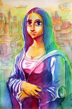 Moe Lisa - after Da Vinci's La Joconde