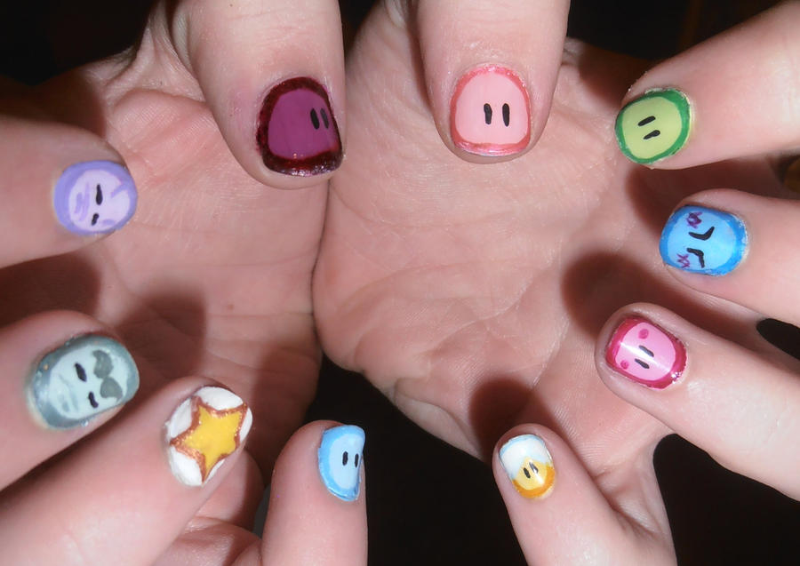 Dango daikazoku nails by Emirai on DeviantArt