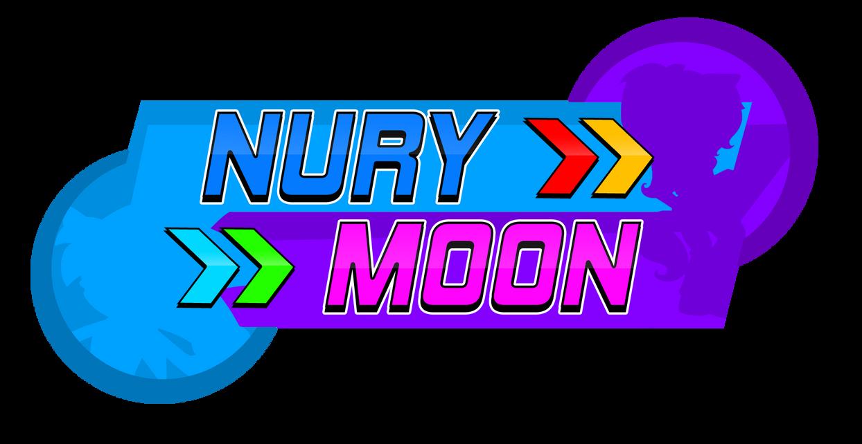 Nury And Moon Logo Sonic Rush Style by NuryRush