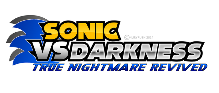 Sonic Vs Darkness: T.N.R fan game logo remade