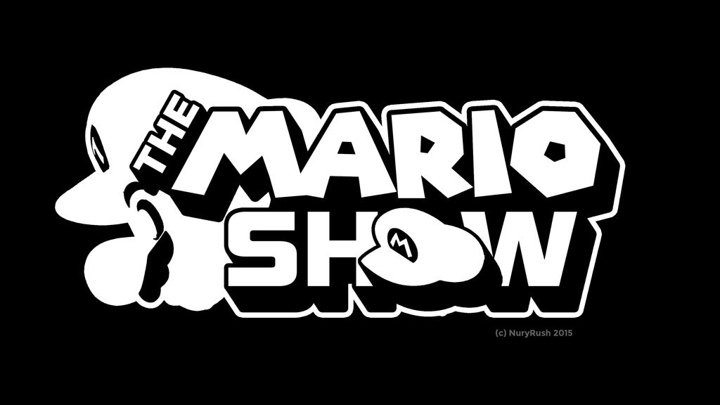 The Mario Show Logo (White Version) by NuryRush