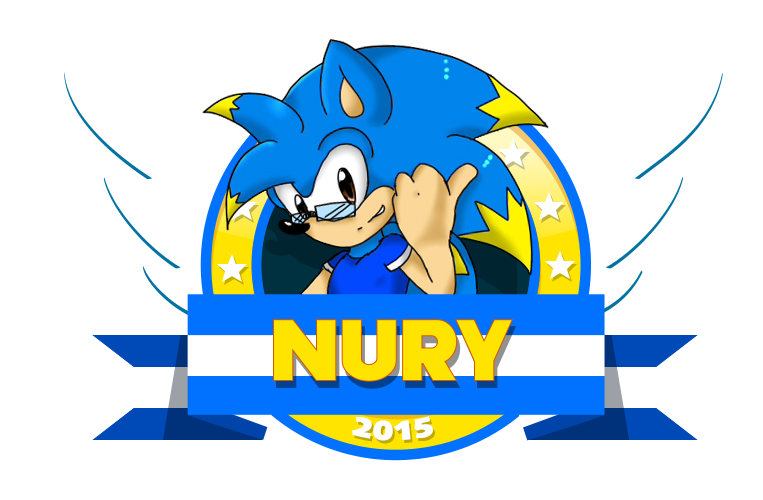 Nury Rush New Mini Logo (Sonic 2 Style collab) by NuryRush