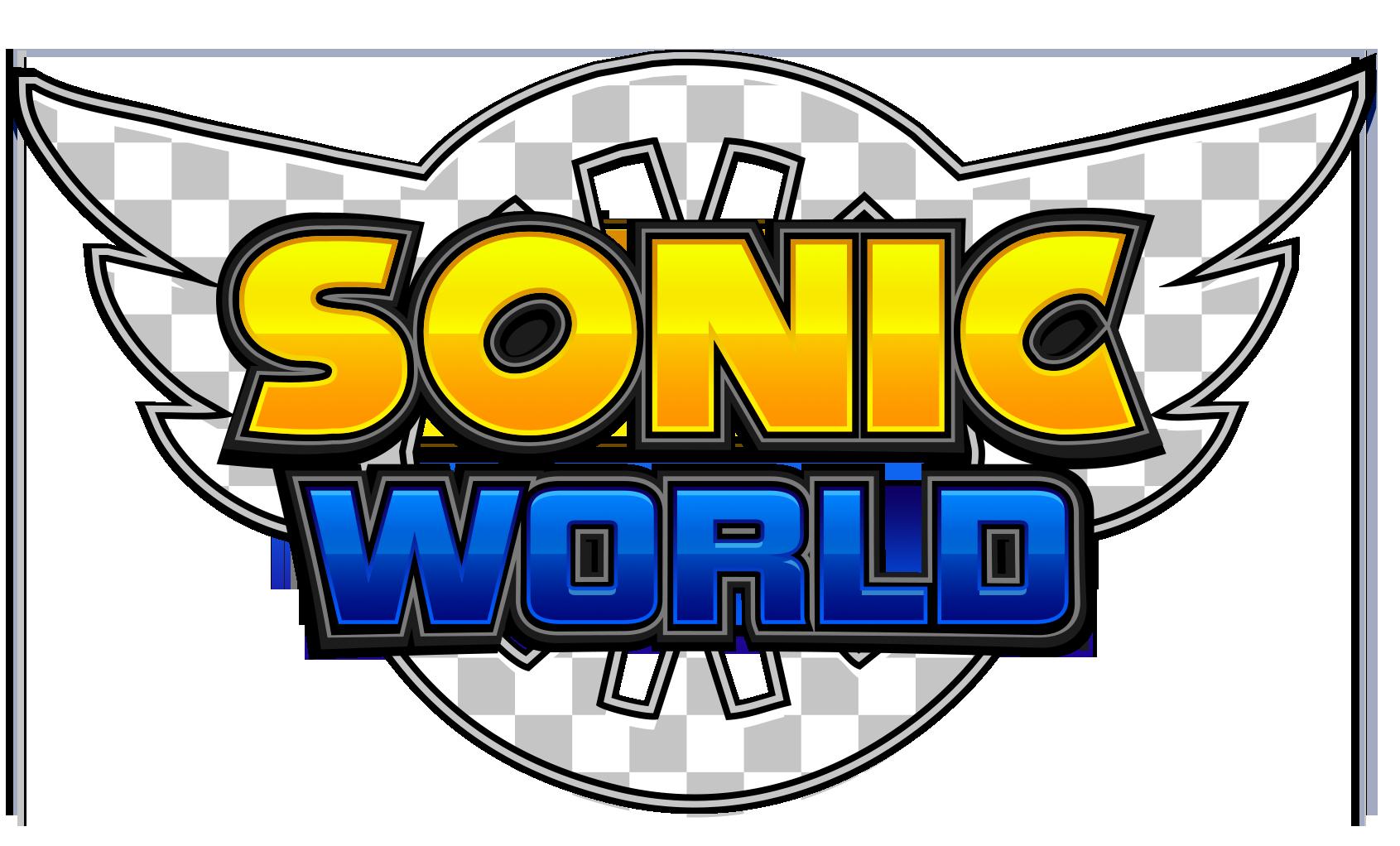 new sonic world logocommission by nuryrush on deviantart
