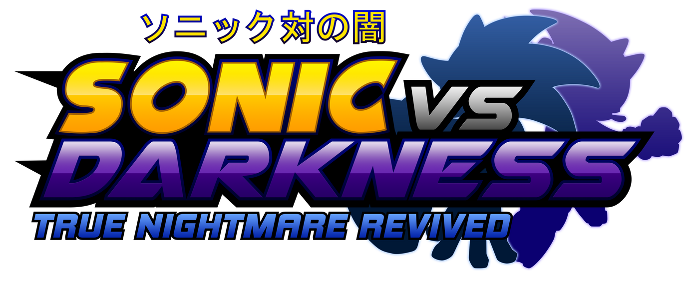 Sonic Vs Darkness : TNR Logo (My Version) by NuryRush
