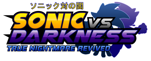 Sonic Vs Darkness : TNR Logo (My Version)