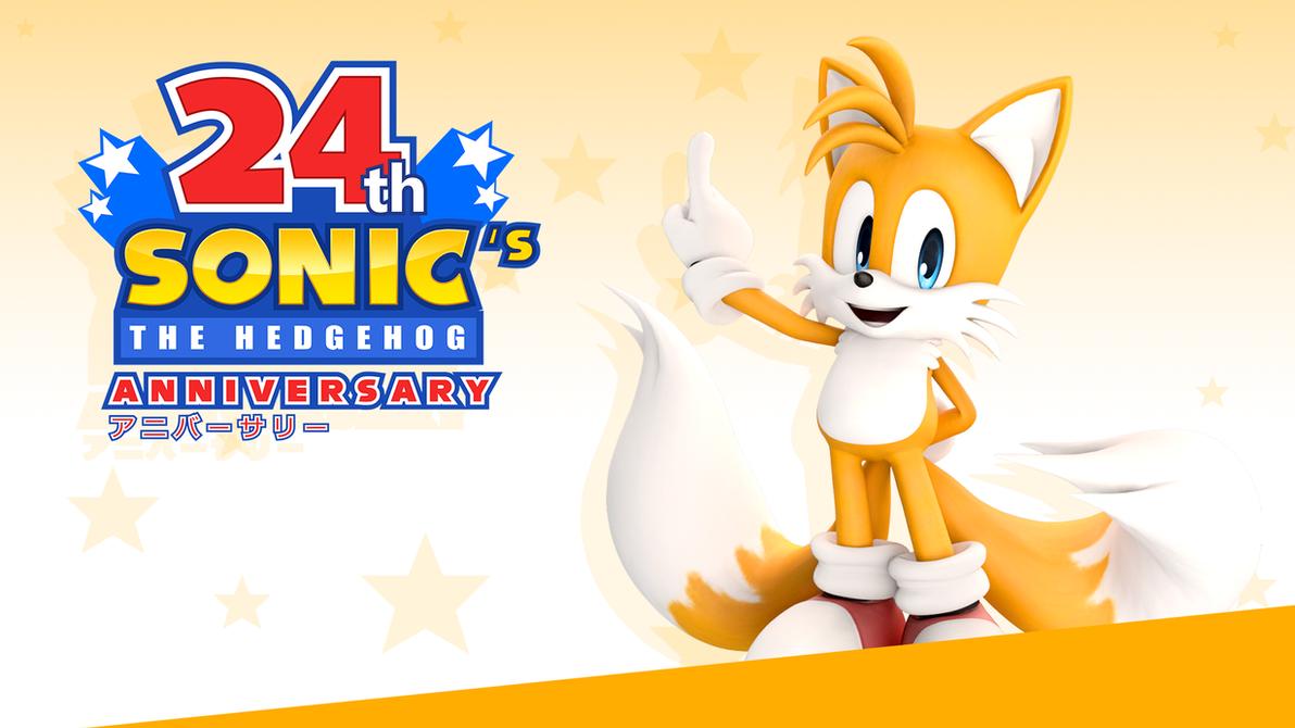 Sonic 24th Anniversary Wallpaper - Tails - by NuryRush
