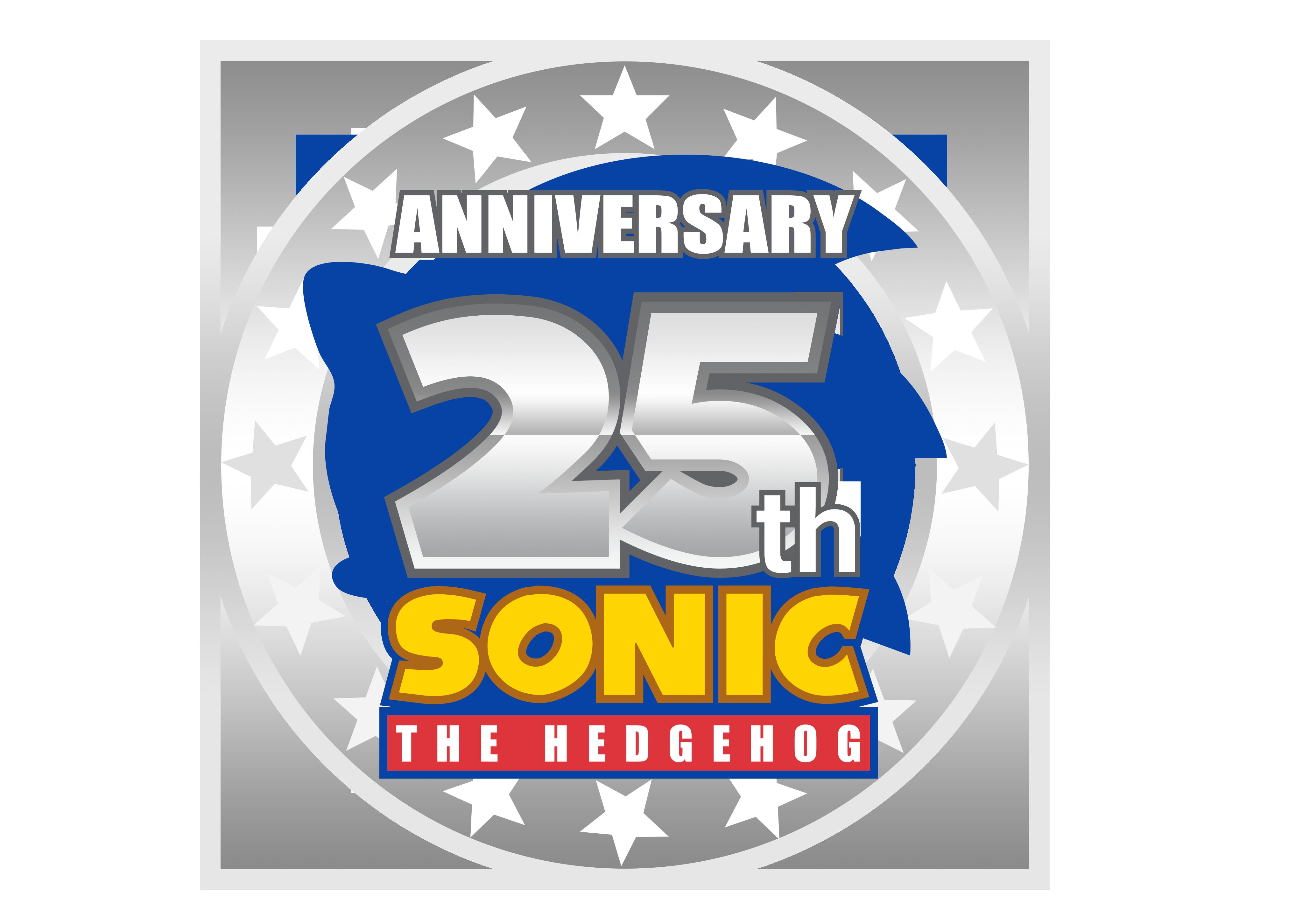 sonic 25th anniversary logo remake by nuryrush on deviantart 25th Anniversary Seal 25th Anniversary Backgrounds