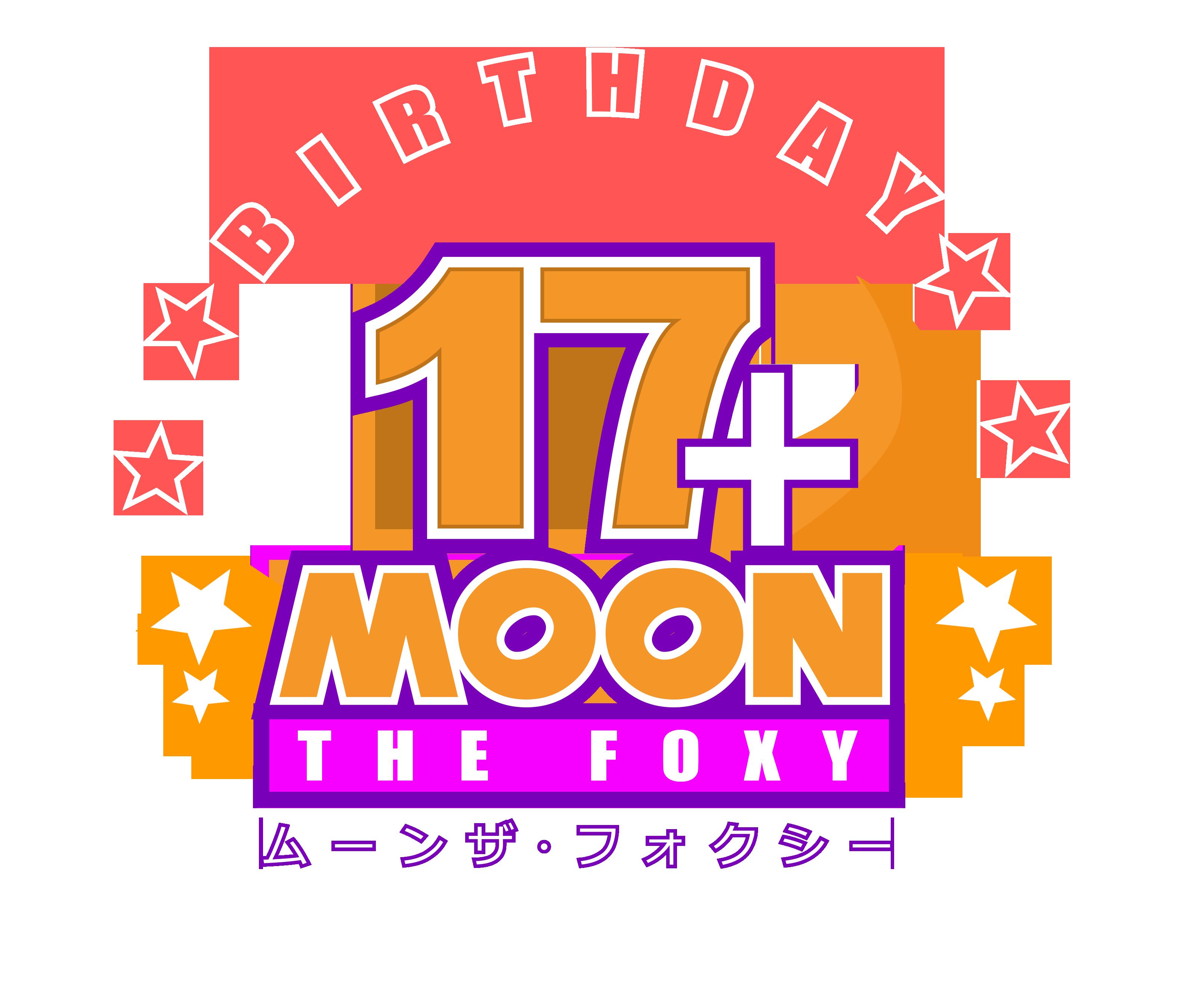 17+ Birthday Moon The Foxy (Mikal) Logo by NuryRush