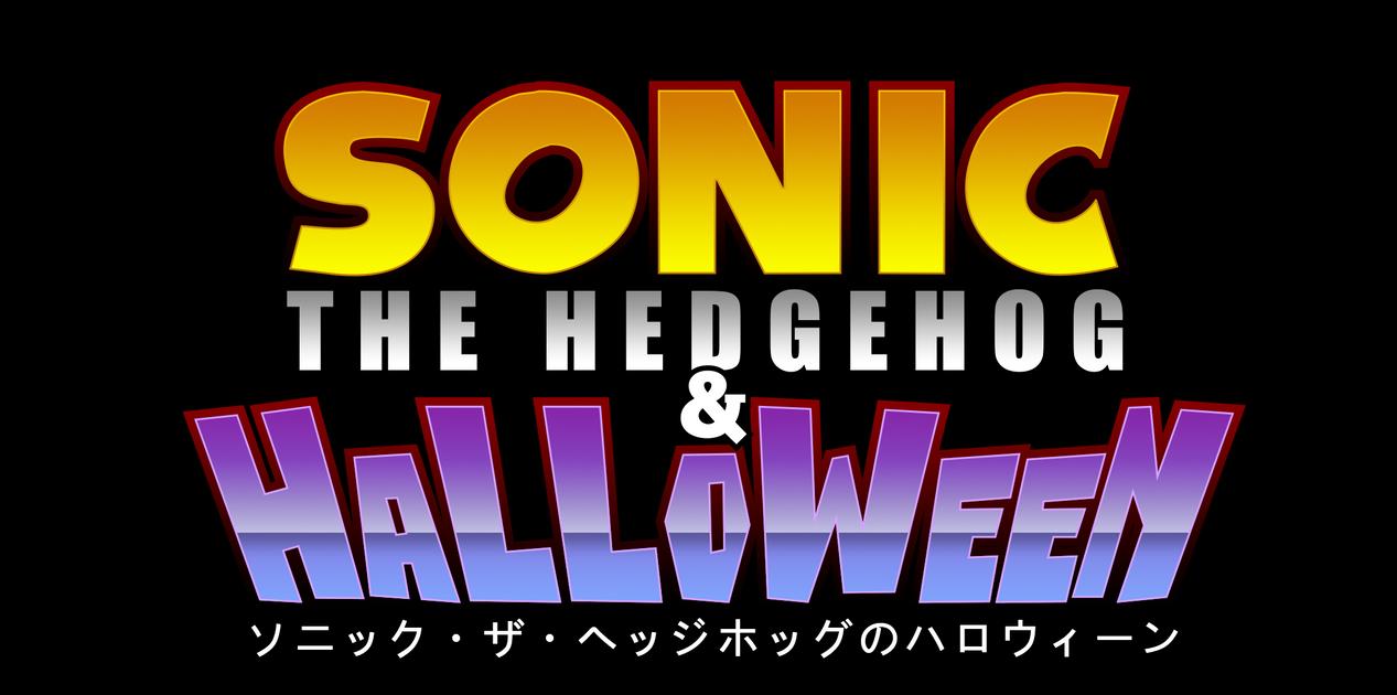Sonic The Hedgehog And Halloween Logo by NuryRush