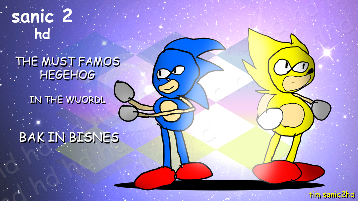 sanic 2 hd wallpaper by NuryRush