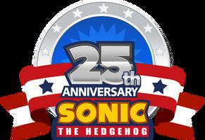 Sonic's 25th Anniversary 2016 Logo by NuryRush