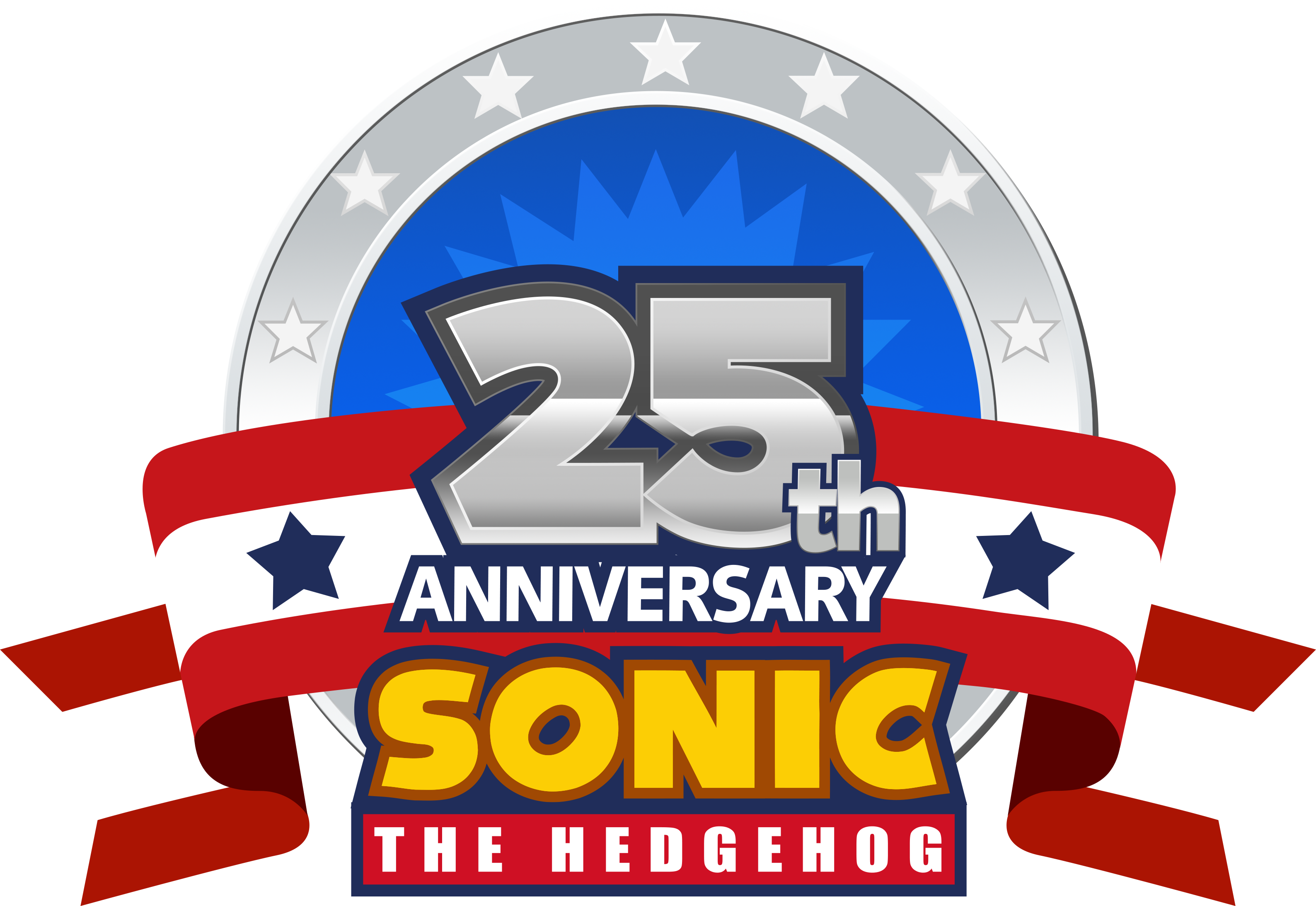 sonic s 25th anniversary 2016 logo by nuryrush on deviantart 25th Work Anniversary Clip Art 25th Anniversary Backgrounds