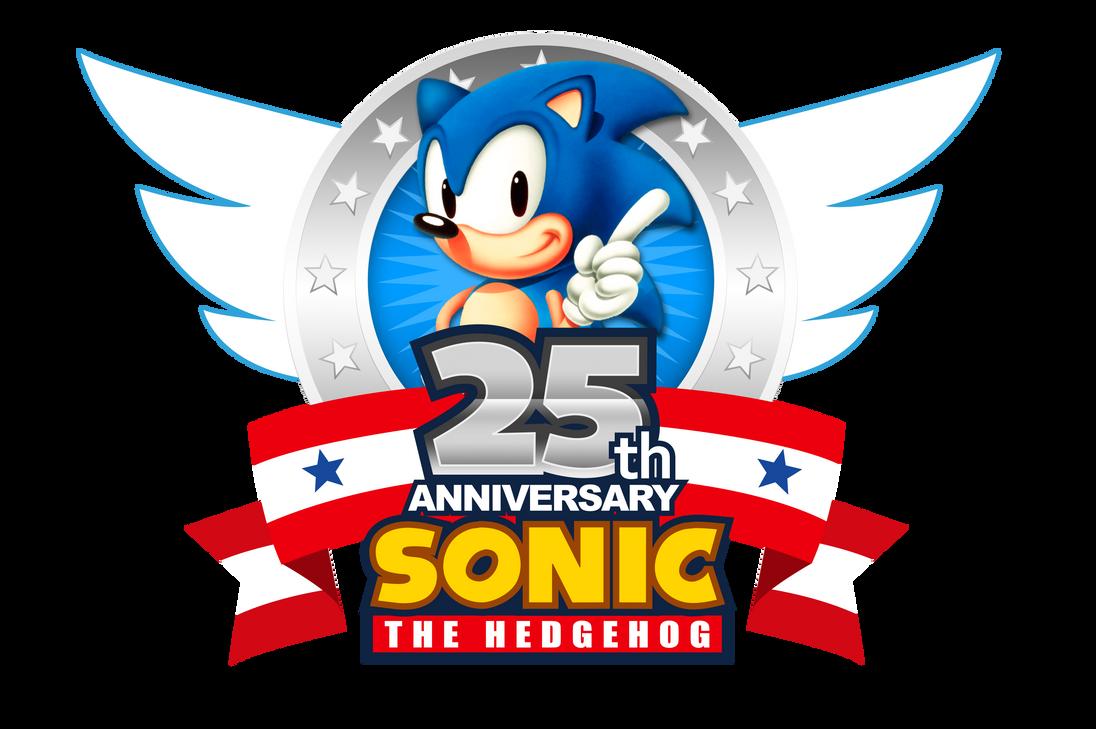 Sonic's 25th Anniversary 2016 Logo (Updated) by NuryRush