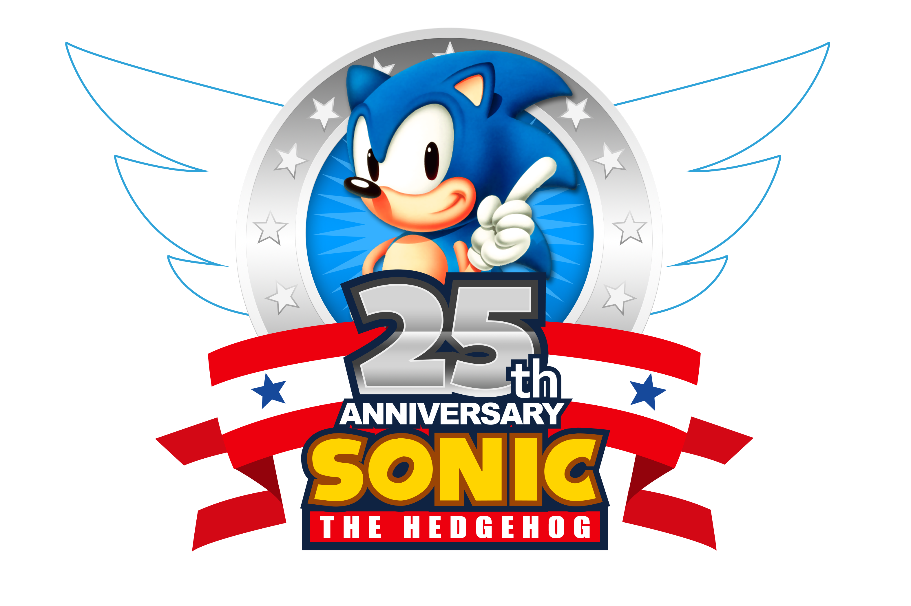 sonic s 25th anniversary 2016 logo  updated  by nuryrush 25 Anniversary Logo 25th Anniversary Seal