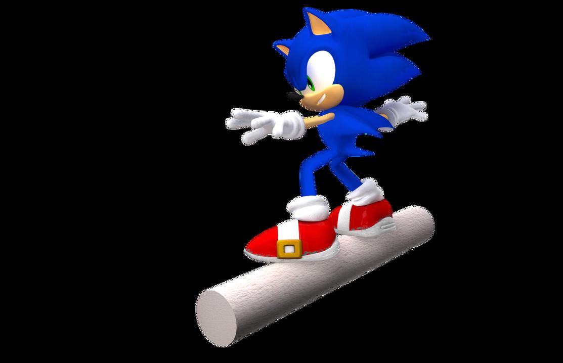 Sonic in Apotos Render by NuryRush