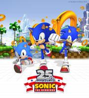 Sonic's 25th Anniversary Poster Remake by NuryRush