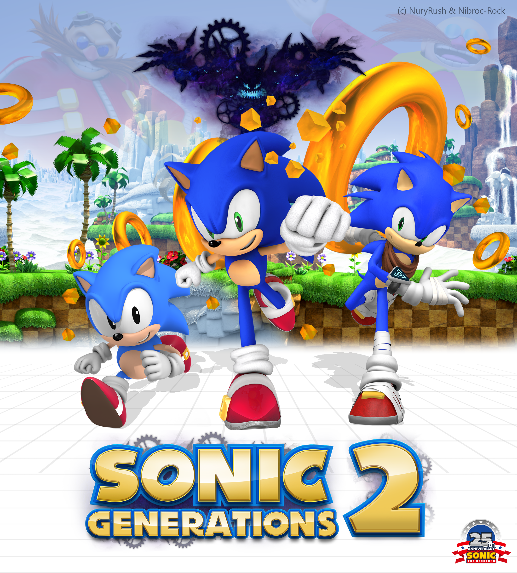 Sonic's 25th Anniversary Poster Remake SG2 Variant by NuryRush