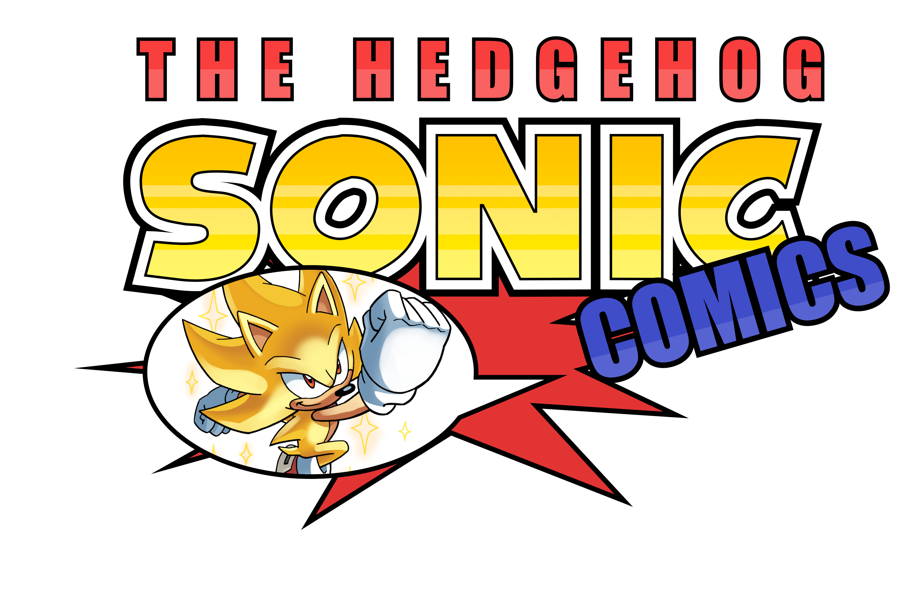 Sonic The Hedgehog Comics Logo by NuryRush