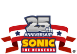 Sonic 25th Anniversary Flag Template
