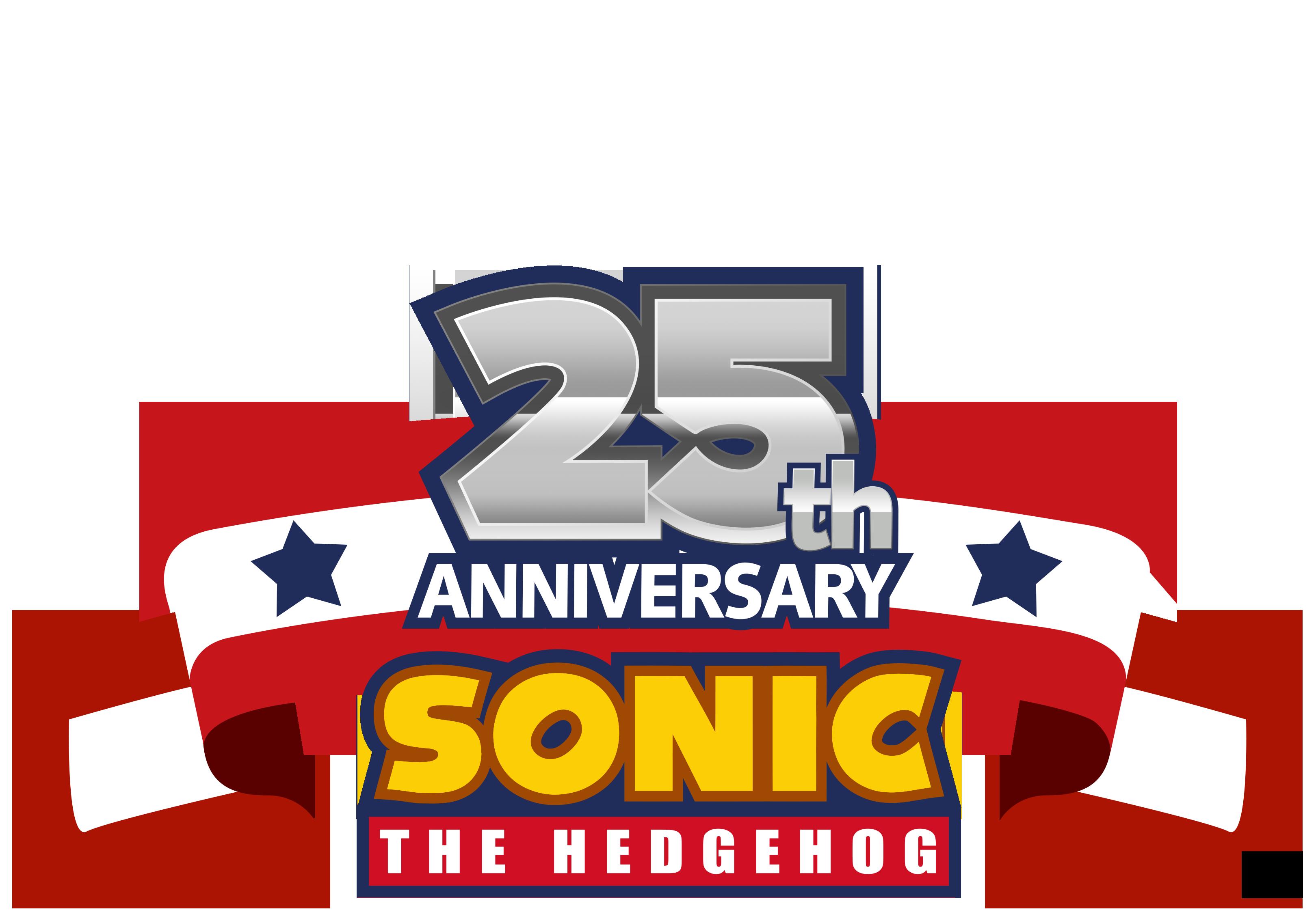Sonic 25th Anniversary Flag Template by NuryRush