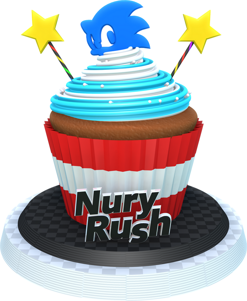 Sonic Cupcake Render by NuryRush