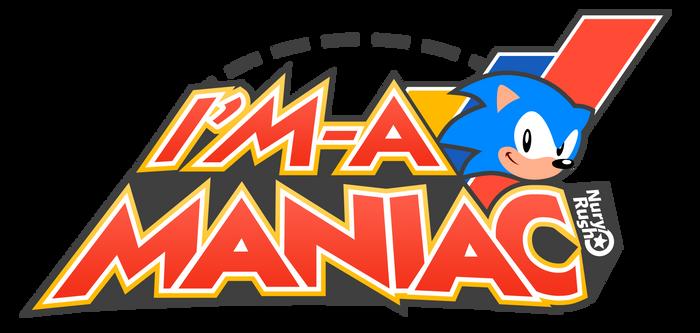 I'm a Sonic Maniac Logo