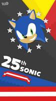 25th Sonic Anniversary Phone Material Wallpaper by NuryRush
