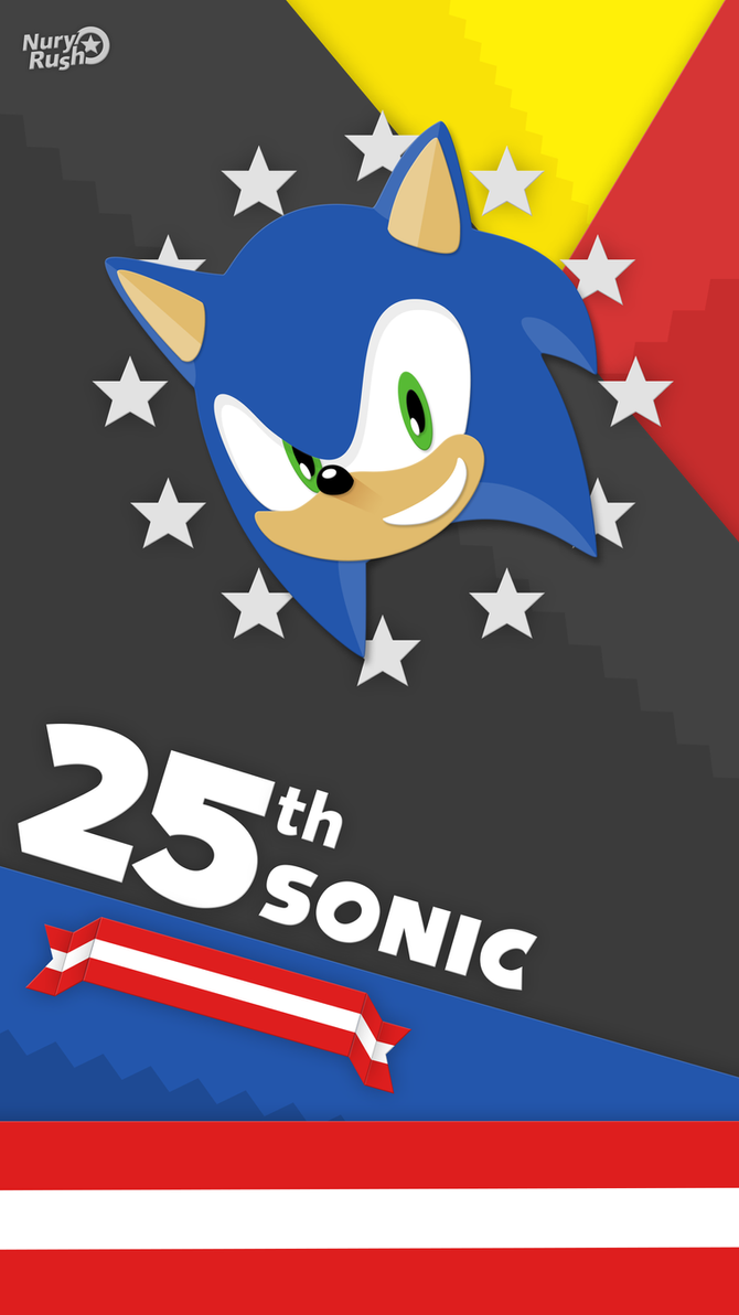 25th Sonic Anniversary Phone Material Wallpaper by NuryRush