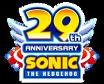 29th Anniversary Sonic The Hedgehog Logo