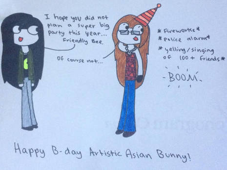 Happy late Birthday ArtisticAsianBunny