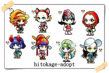 hitokage-adopt 5 points each!