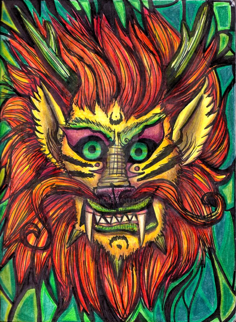 Lion oni by Tefian