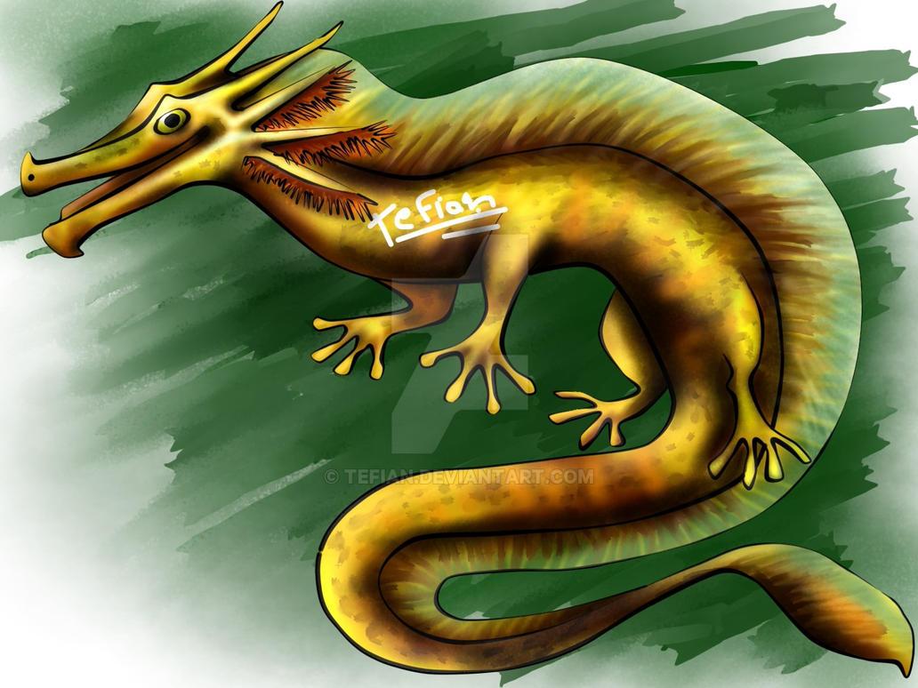 Adoptable Axolotl dragon 2 (closed) by Tefian