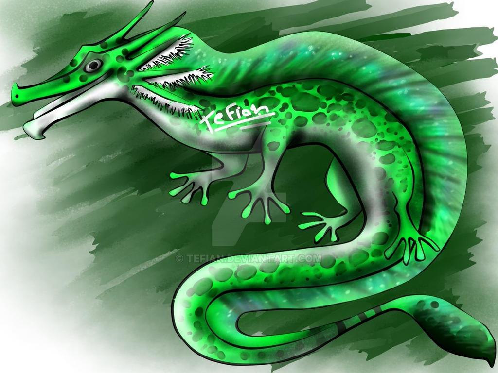 Adoptable Axolotl dragon 4 (closed) by Tefian