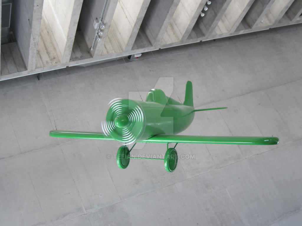 Green plane by Tefian