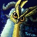 Pixel dragowl by Tefian