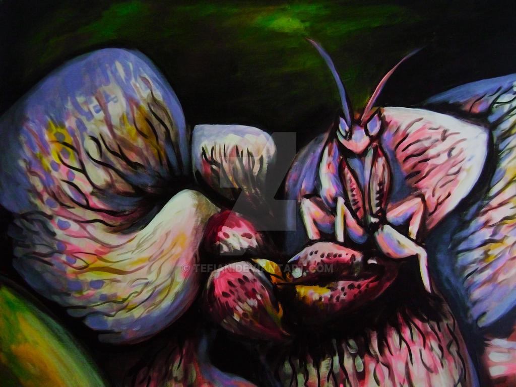 Mantis orquidea by Tefian